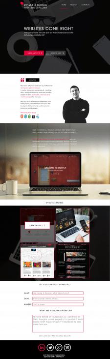 Дизайн персонального сайта для Roman Turbin