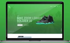 Продающий лендинг продажа спортивной обуви