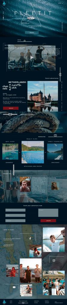 Стильный дизайн сайта путешествий на яхтах