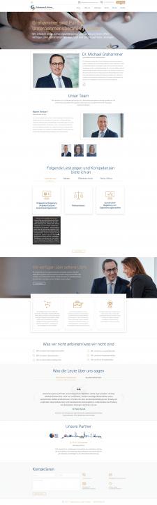Landing Page Grahammer&Partner