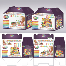 Упаковка игрушка Монтессори для Амазон