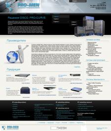 Дизайн сайта по продажам электрооборудования