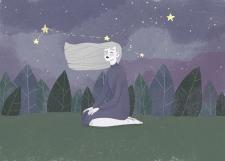 Иллюстрация с персонажем