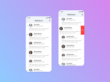 Notifications page and actions