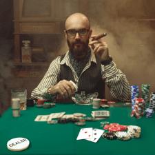 Шаблон поста инстаграмма на тему-игра в покер