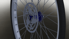 Передний обод велосипеда
