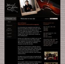 Разработка дизайна для сайта Muziek en Zaken