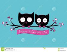 ллюстрация милая пара сов