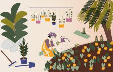 """Ілюстрація """"Робота садівника"""""""