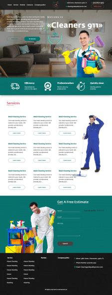 Сайт визитка (клининг компания)