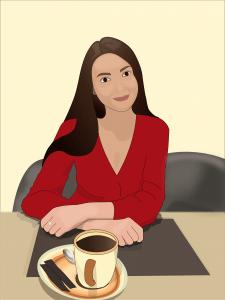 Ілюстрація — портрет дівчини