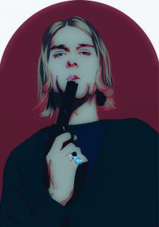 поп - арт портрет.