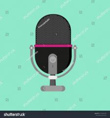 микрофон в стиле flat