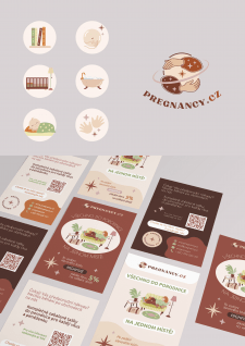 иконки, лого и флаеры для Pregnancy.cz