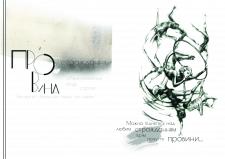 сторінка арт буку Провина