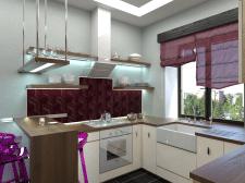 Кухня с разделением на зоны