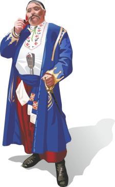 Украинец в костюме