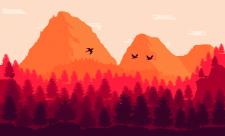 Пейзаж в стиле FireWatch