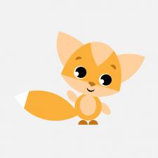 лисичка, персонаж, вектор