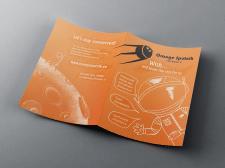 Буклет для Orange Sputnik иллюстрациями