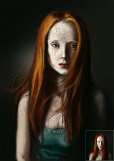 Портрет рыжей девочки