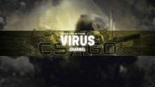 Шапка для Ютуб канала VIRUS