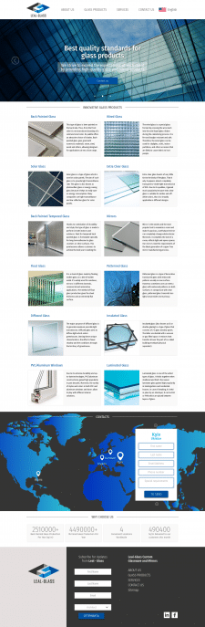 Создание вебсайта с нуля Leal Glass
