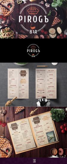"""Логотип та меню для ресторану """"PIROGЬ"""""""