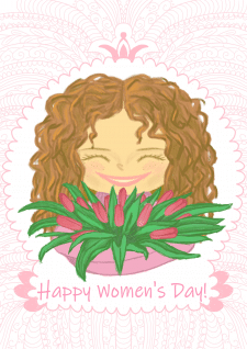 Postcard to the International Women's Day on March