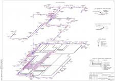 Аксонометрия системы отопления коттеджа