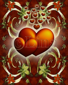 Два красных сердечка