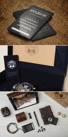 визитки для Gentleman box
