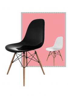 Чорний та білий стілець для житлового приміщення