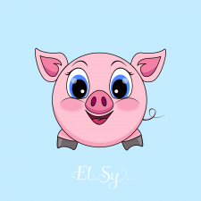 """из серии круглый зверь """"свинка"""""""