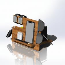 Органайзер из дерева для телефона