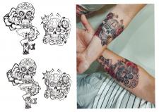 Парная татуировка. Эскиз