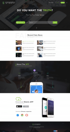 Web App Home Page Design
