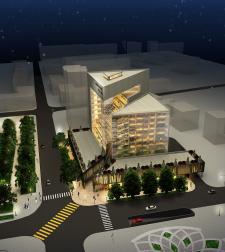 Визуализация экстерьера отеля.