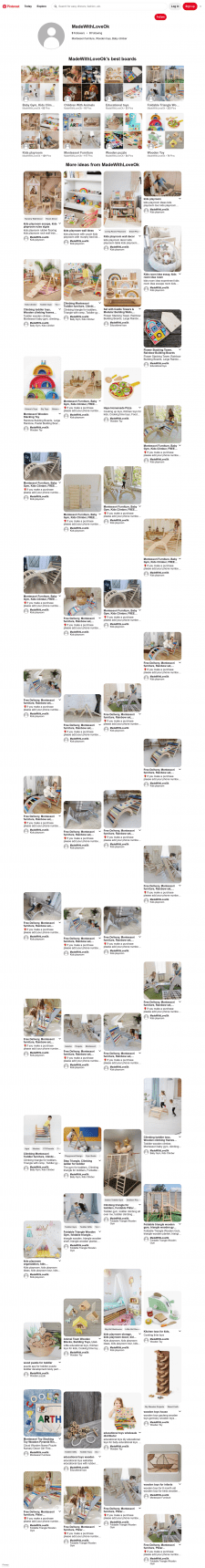 Montessori furniture, Wooden toys, Baby climber
