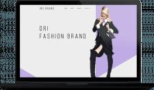 Дизайн-концепт лендинга фешн-бренда «ORI»