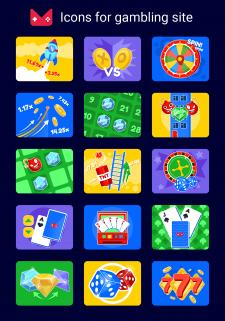 Иконки для сайта онлайн-казино