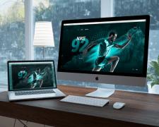Mockup сайта для Nike