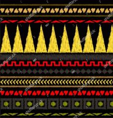 Бесшовный вязаный узор, вышивка, декор ткани, мода