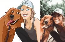 Девушка с собакой(#стилизация)