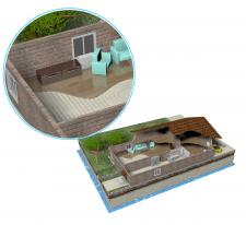 Моделирование дома в разрезе