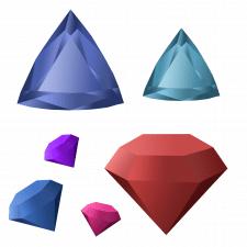 иллюстрация диаманты