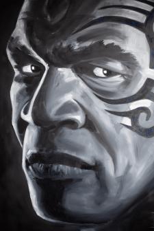 Mike Tyson (портрет, масло/холст 150*100см)