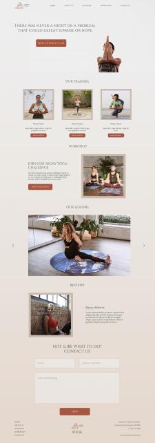 Сайт для студии йоги AURORA STUDIO
