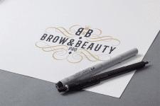 логотип для brow&beauty