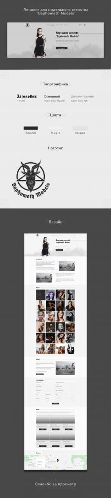 Дизайн сайта-визитки для модельного агенства